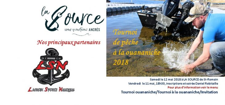 MERCI D'AVOIR PARTICIPÉ AU TOURNOI DE PÊCHE À LA OUANANICHE DU 12 MAI 2018, BILAN ET GALERIE PHOTOS 2018 DISPONIBLES.
