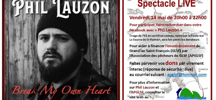 Phil Lauzon en spectacle LIVE le 14 mai 2021